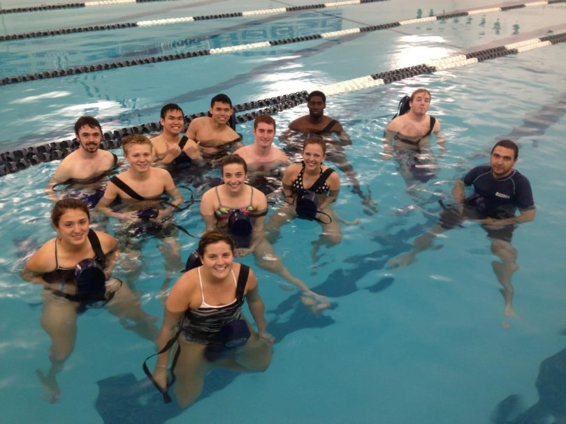 working in a pool as a savior - работа в Америка
